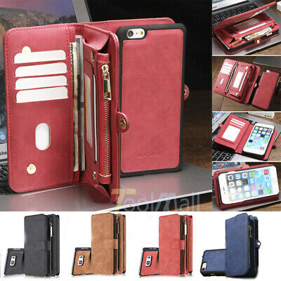 Leather Removable Wallet Magnetic Flip Card Case Cover For iPhone 7 6 6S Plus 5S