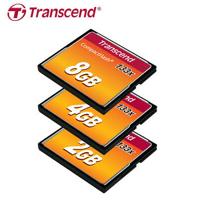 Transcend 2G 4G 8G 133X UDMA4 Compact Flash CF Card Read Speed up to 50MB/s