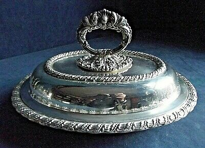 """SUPERB Ornate 11"""" ~ SILVER Plated ~ SERVING DISH ~ c1900"""