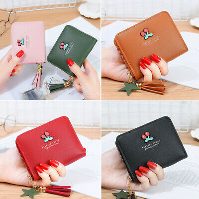 Womens PU Leather Small Mini Wallet Ladies Card Holder Clutch Handbag Coin Purse