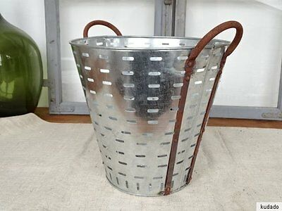 L1735 Olivenkorb~Iron Olives~Oliveneimer Zinc Plated ~ Olive Bucket