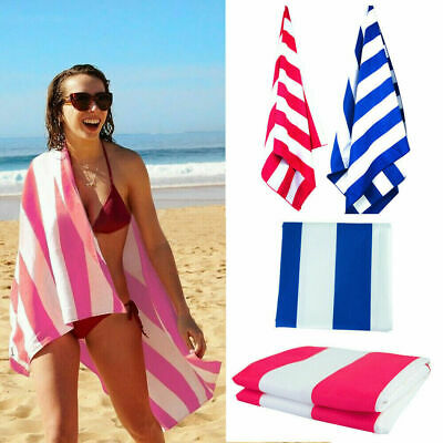 200cmx90cm Striped Extra Large Microfibre Lightweight Beach Towels——Travel Towel