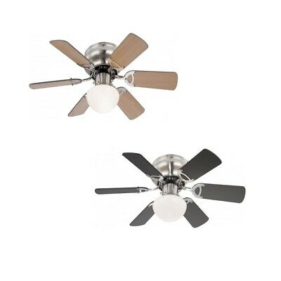 """42/"""" with pull cord and lighting Globo Ceiling Fan Wade Nickel Chrome 106.6 cm"""