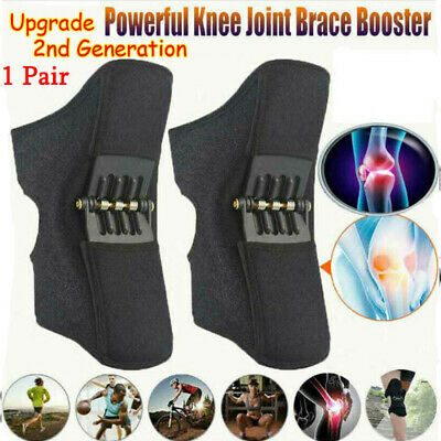 NEW 2nd Generation Power Knee Stabilizer Pads Rebound Spring Force Support Knee