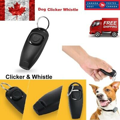 New 2 in 1 Training Clicker & Whistle For Dog Pet Puppy Cat Trainer Obedience CA