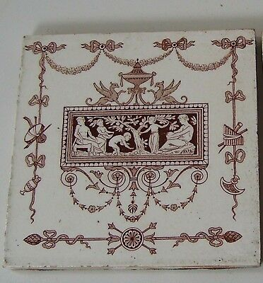 Pair Antique Wedgwood Ceramics Tiles Classical Design Decorative Items