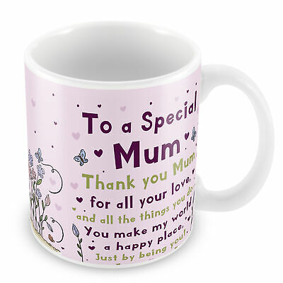 Special Mum Mug Mum Birthday Christmas Gift From Daughter Son Thank You Gift