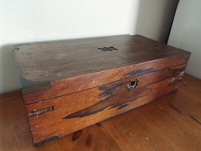 Vintage Writing Slope Box / Case 51cm wide no inner sections restoration project