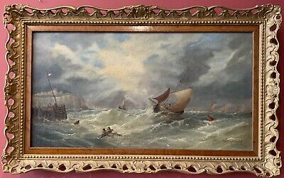 Fine 19Th Century English Marine Oil Painting - Signed Clarkson Stanfield 1853