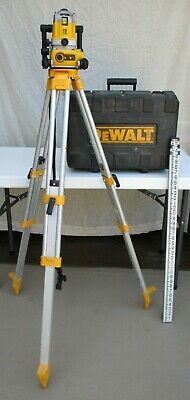Dewalt Dw071 Rotary Laser + Stand Carry Case Measure Combo Set Works Great!