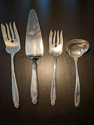 Sterling Silver Serving Pieces Prelude by International Silver (Lot of 4)