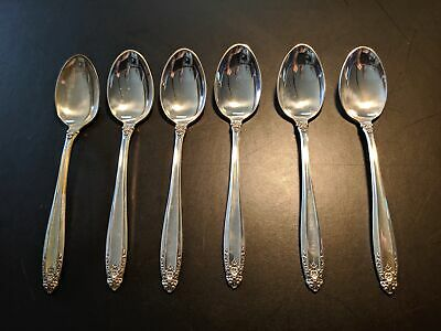 Sterling Silver Demitasse Spoon Prelude by International Silver (Lot of 6)