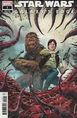 Star Wars Galaxy's Edge #1 1:25 Patrick Zircher Variant 2019 Han Solo Chewbacca