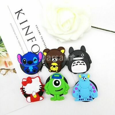 Silicone socket Cartoon Phone Holder Expanding Stand Finger Holder For Samsung