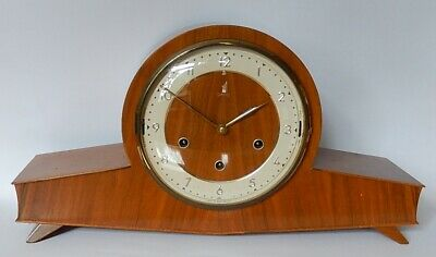 Superb Smiths Art Deco Twin Tune Chiming Mantel clock working 3006