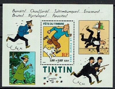 France Bloc N° 28 Tintin Fete Du Timbre 2000 - Neuf Luxe ** - Chien