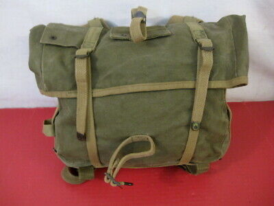 post-WWII USMC Marine Corps M1941 Haversack OD Upper Combat Pack - Dated 1952 #1