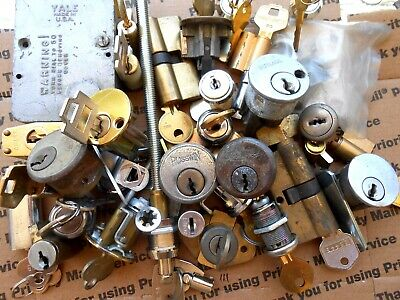 7.1 Lbs  Lock cylinders, locks, parts.. Some new w/keys Locksmith,Student ...