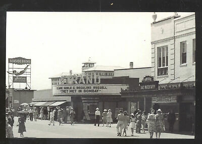 Real Photo Ocean City New Jersey Nj Theatre Downtown Postcard Copy