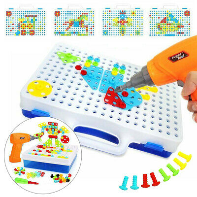 Children Toys Electric Drill Nut Match The Van Tool Electric Drill-Puzzle Gift