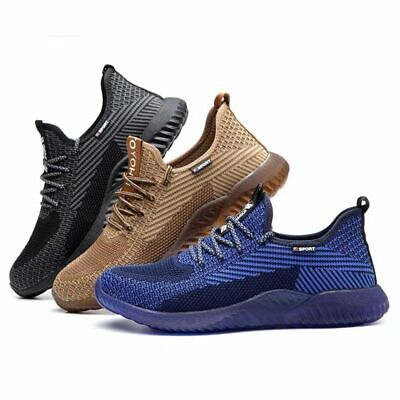 Safety Shoes for Men Women Steel Toe Trainers Lightweight Work Shoes Sports UK *