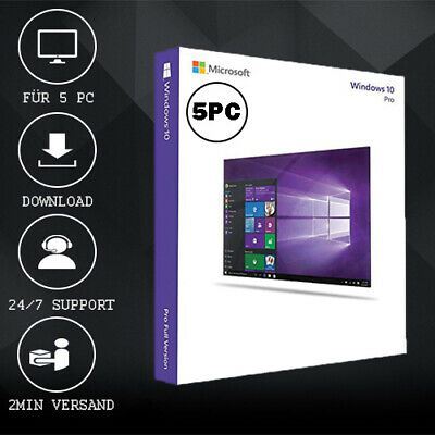 Windows 7/8.1/10 Home/HP/Pro/Ultimate - 1/5PC - 32&64 Bits - delivery per E-Mail