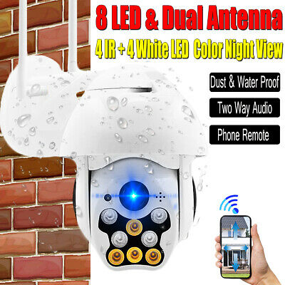 1080P HD PTZ Wireless 2MP IR Dome Audio Security WiFi CCTV Camera Night Vision