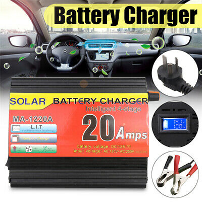 12V 20A Automatic Electronic Intelligent Fast Battery Charger Car Motorbike