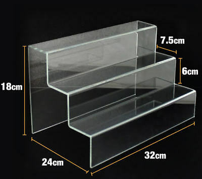 Acrylic 3 Step Riser  - Brand New - Large 32cm wide - Sturdy - Stock in Sydney.