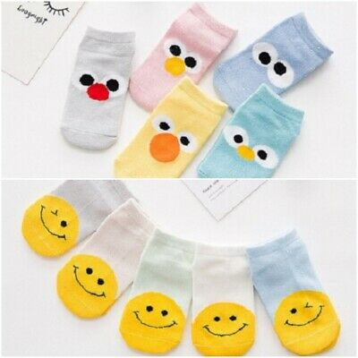 5 Pairs Cute Cartoon And Fashionable Autumn Winter Boy Girl Baby Infant Socks