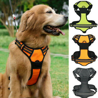 No-pull Dog Pet Harness Reflective Outdoor Adventure Pet Vest Padded Handle PAUK