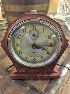 Jaz, French Art Deco Bakelite Alarm Clock c.1930