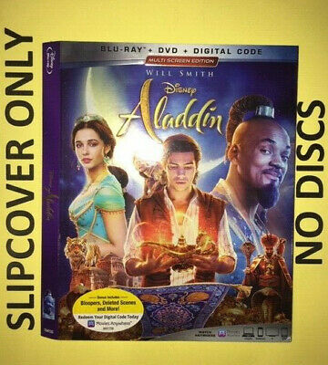 Aladdin: Live Action (2019) - Blu-ray Slipcover ONLY - NO DISCS