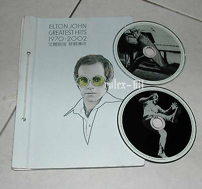 Elton John Greatest Hits 1970-2002 Version Taiwan only Promo 2 CD Box