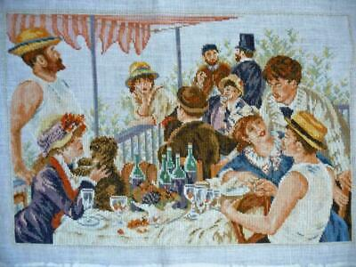 Lanarte Completed Cross Stitch Rowing Party - Renoir 33879