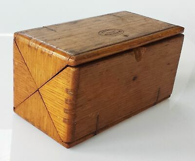 1889 antique FOLDING WOOD SINGER SEWING BOX w ACCESSORIES model 15