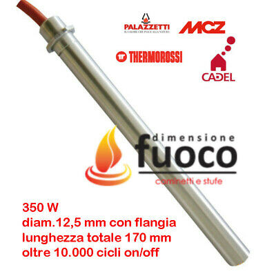 Candeletta Acc. Stufe Pellet Con Flangia -D.12,5 - Lung.170 - Thermorossi - 1022