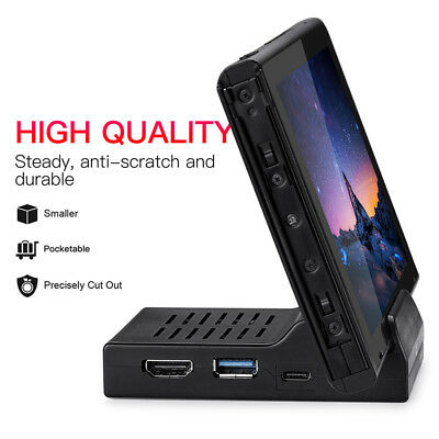 1pcs Portable Dock HDMI USB Replacement Docking Station For Nintendo Switch New