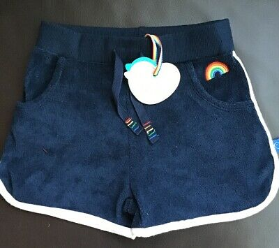 Little Bird By Jools Oliver Boys/Girls Navy Towelling Shorts 4-5 Years