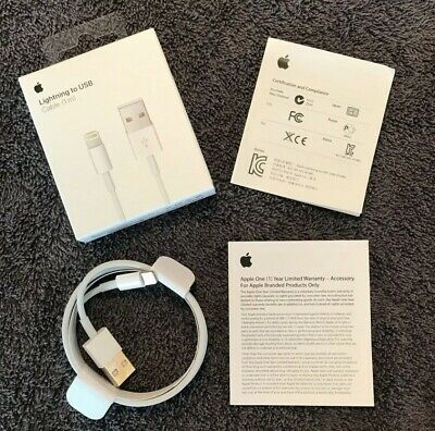 New Original Apple iPhone Lightning Cable 2m 6ft Charging Cord Authentic OEM USA