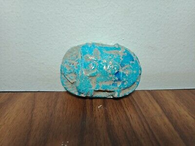 Scarab Egyptian Ancient Bc Beetle Rare Stone Amulet 300 Egypt Carved Antique