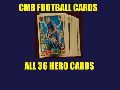 Premier League 2019 2020 Panini Adrenalyn Xl Hero Set 36 Cards