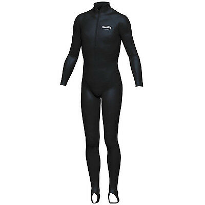 Mirage HOODLESS Kids Lycra Long Stinger Suit BLACK Size 6/8