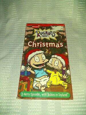 RUGRATS: CHRISTMAS ANIMATED Vhs Video, Nickelodeon, 3 Merry
