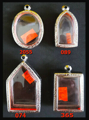 Thai Amulet Style Buddha Stainless Steel Cases Set 4 Holy Grade A Strong (No.5)
