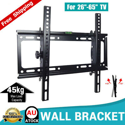 "TV Wall Mount Bracket Tilt Swivel Flat Slim Plasma LCD LED 26-65"" inch Universal"