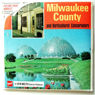3x VIEW MASTER REEL / MILWAUKEE COUNTY and HORTICULTURAL CONSERVATORY /WISCONSIN
