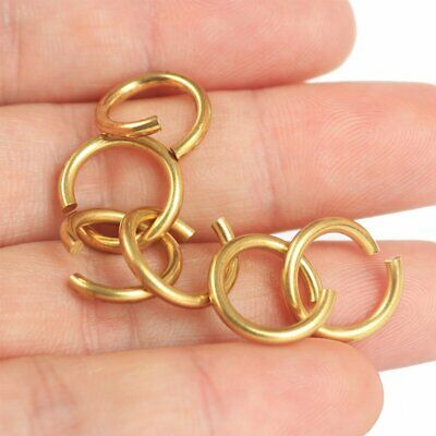 Solid Brass Open Jump Rings Link Loops 14mm 12mm