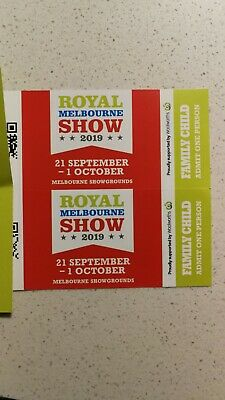 2 * Royal melbourne show child tickets