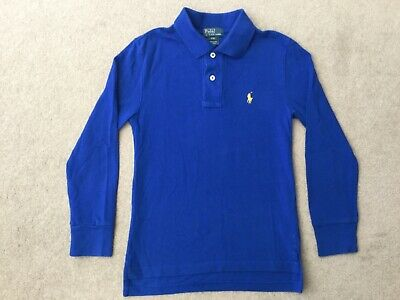 Ralph Lauren Polo Shirt  'Age 8' Blue With Logo Good Condition No Reserve